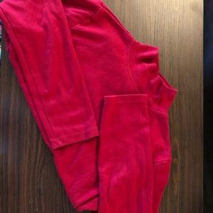 Dressbarn | Red Mock Neck Ribbed Sweater L